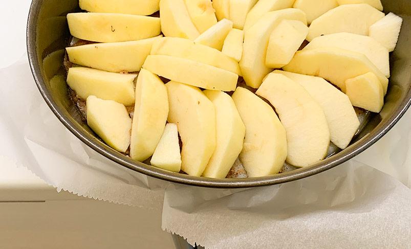 fächerformig-äpfel-boden