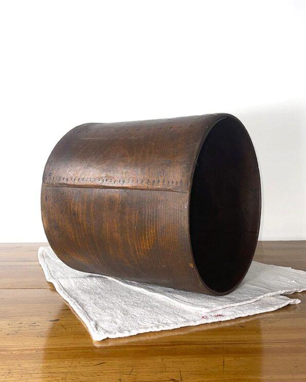 Holzbehälter Papierkorb Zeitungständer gebogenes Holz antik