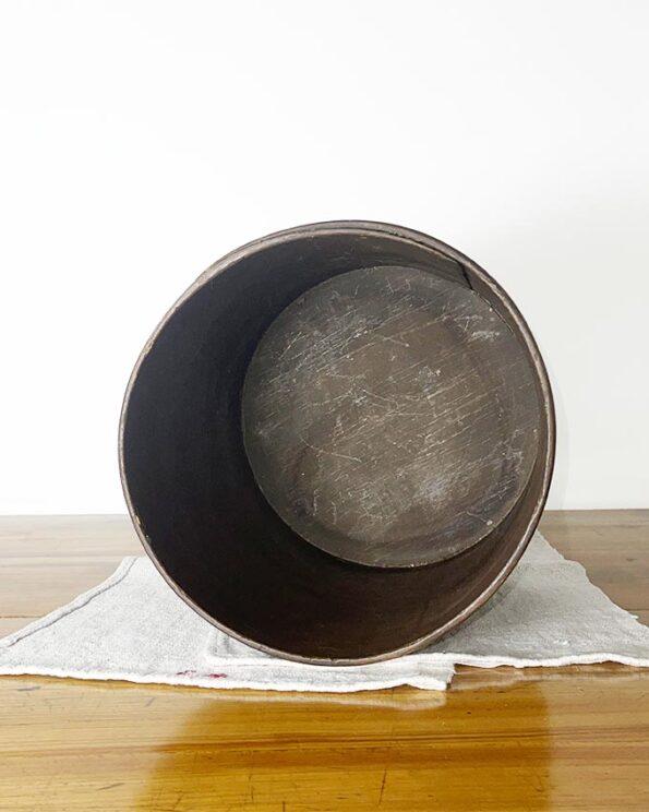 Holzbehälter Papierkorb Zeitungständer gebogenes Holz antik innen